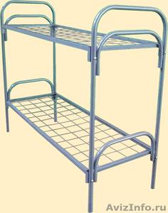 кровати двухъярусные, одноярусные металлические оптом, для армий, больниц турбаз - Изображение #1, Объявление #689296