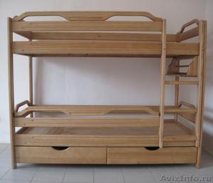 Кровати двухъярусные из дерева, лдсп и кожи! Волгоградская 2/4 - Изображение #1, Объявление #1077576