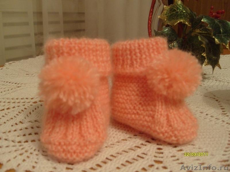 вязание носочков для новорожденных с описанием и схемами