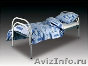 Металлические кровати для пансионата, кровати для бытовок, кровати низкие цены, Объявление #1479370